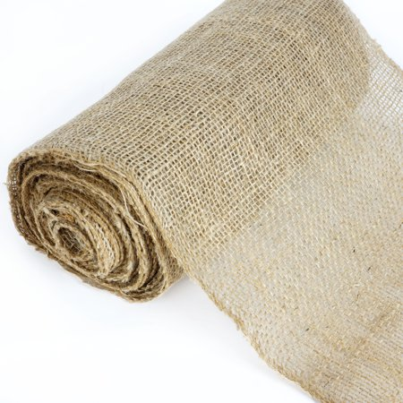 BalsaCircle Natural Brown 12 inch x 10 yards Burlap Fabric Roll - Sewing Crafts Draping Decorations Supplies