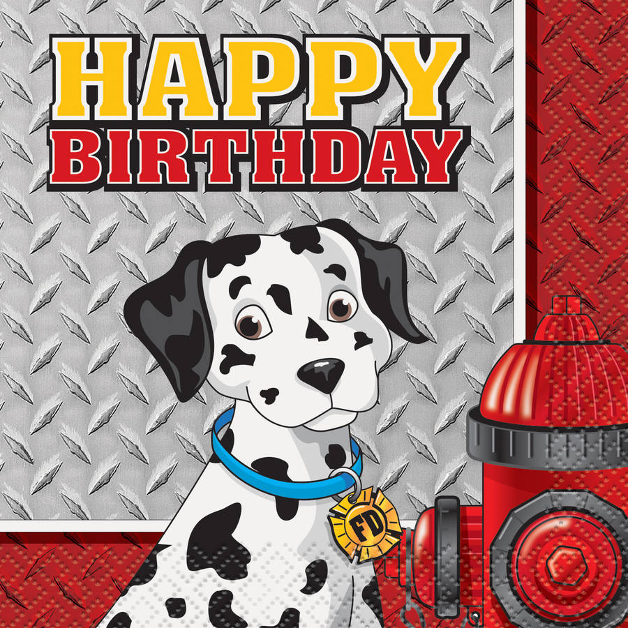 Firefighter Birthday Beverage Napkins, 16ct by Unique Industries