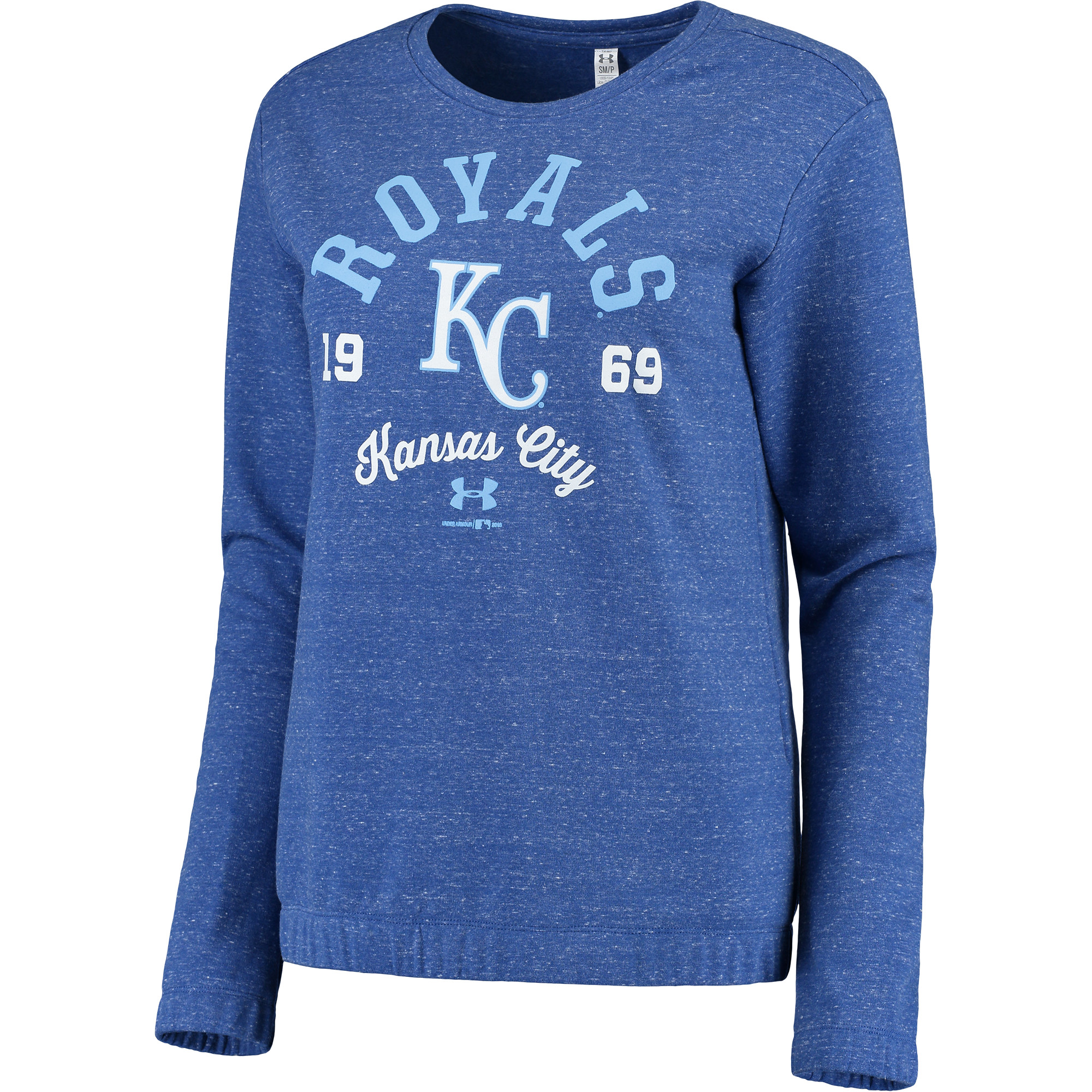 Women's Under Armour Royal Kansas City Royals Levity Pullover Performance Sweatshirt