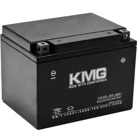 KMG YIX30L-BS Battery For Polaris 500 Sportsman EFI 2006-2010 Sealed Maintenance Free 12V Battery High Performance OEM Replacement Powersport Motorcycle ATV Scooter Snowmobile Watercraft KMG