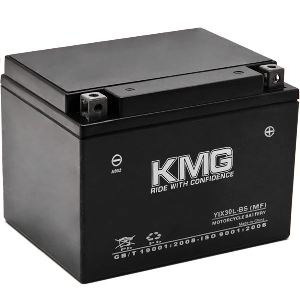 KMG YIX30L-BS Battery For Polaris 700 Sportsman, Military 2002-2008 Sealed Maintenance Free 12V Battery High Performance OEM Replacement Powersport Motorcycle ATV Scooter Snowmobile Watercraft KMG