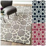 Nuloom Handmade Marrakesh Trellis Abstract Wool Rug (5' x 8')
