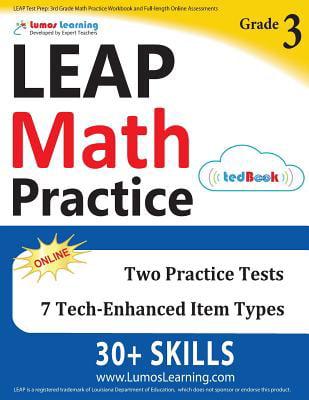 Leap Test Prep : 3rd Grade Math Practice Workbook And Full-Length Online  Assessments: Leap Study Guide - Walmart.com