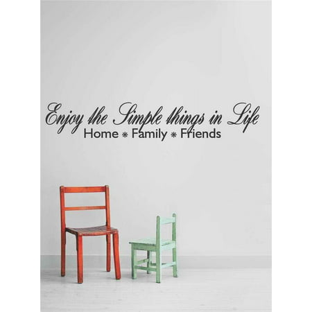 Custom Wall Decal S Stickers Enjoy The Simple Things In Life