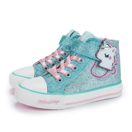Weestep Toddler Little Kid Girls Glitter Bow Sneakers