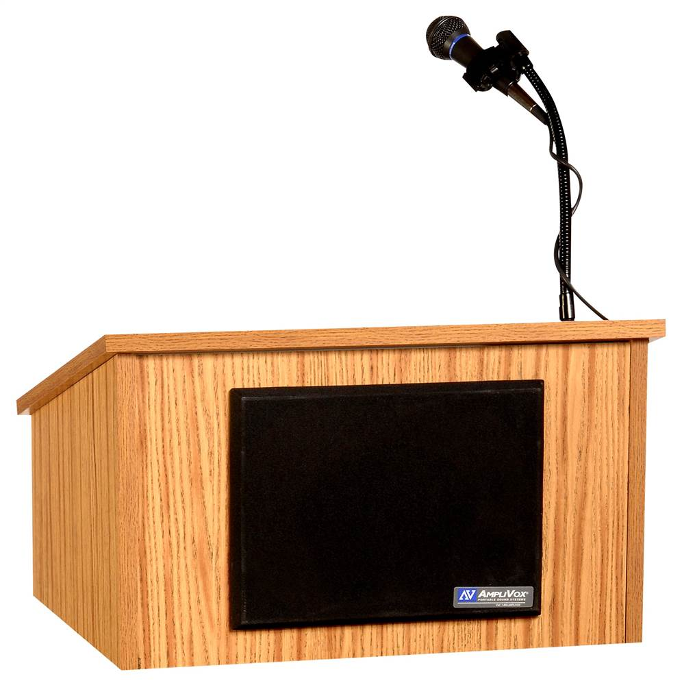 Amplivox Sound Tabletop Lectern w Speaker & Handheld Mic ...