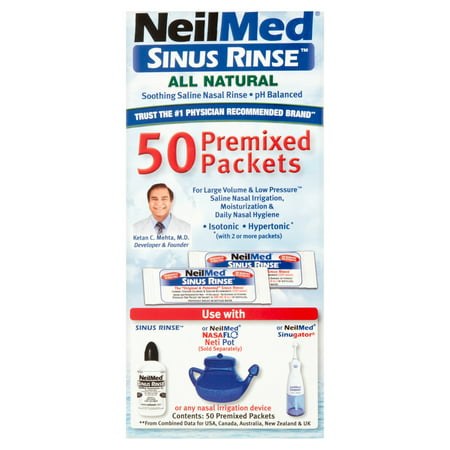 Neil Med Sinus Rinse Premixed Packets, 50 ct