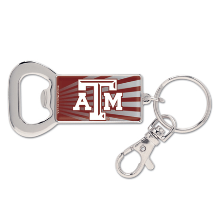 Texas A&M Aggies Silvertone Bottle Opener Keychain - No Size ()