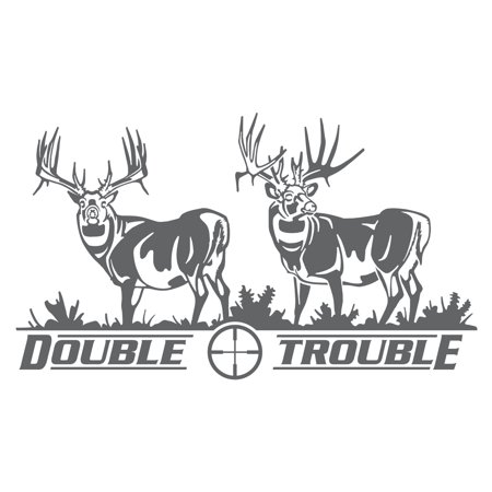 Big Rack Double Trouble Whitetail Decal
