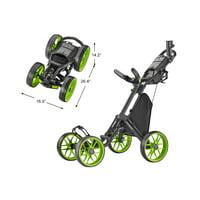 Caddytek CaddyCruiser ONE V8 Golf Push Cart, Lime