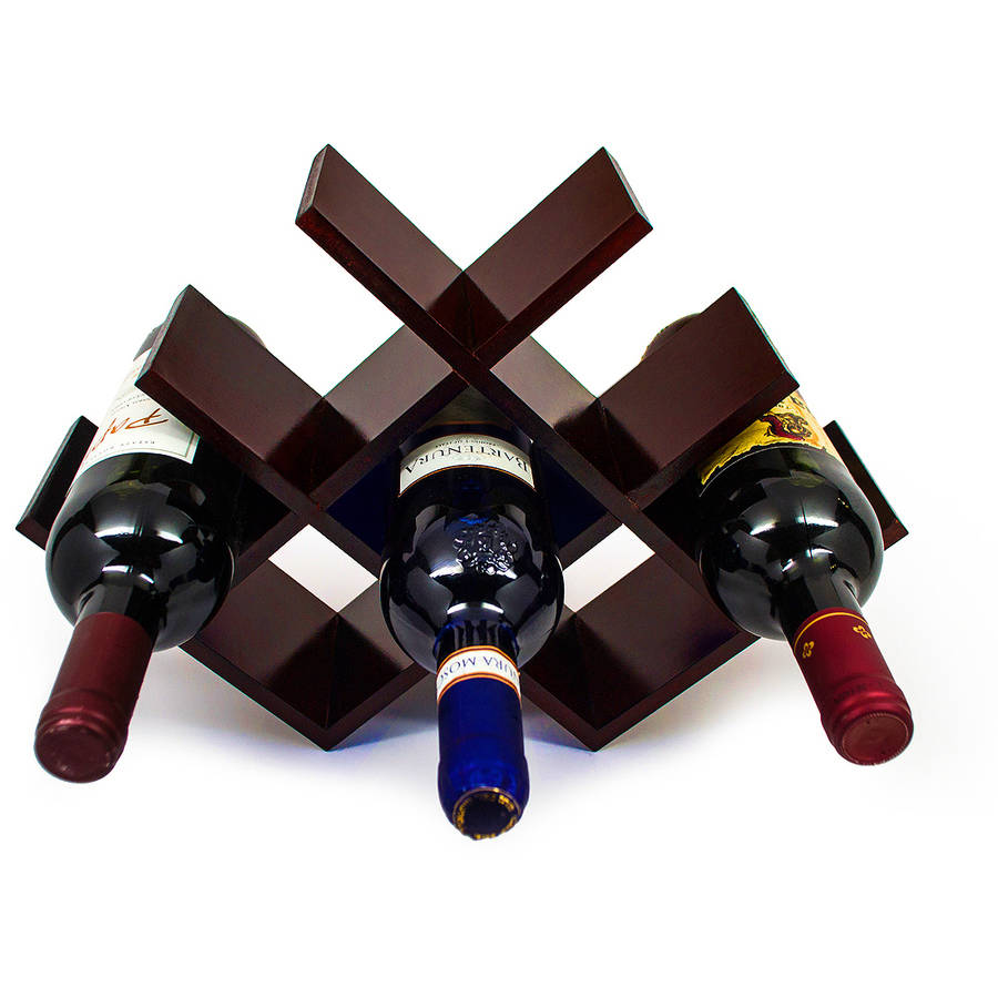 Sorbus Butterfly Wine Rack, Comfortably Stores 8 Bottles of Your Favorite Wine, Sleek and Chic Looking Wine Rack, Great Addition to Any Space, No Assembly Required