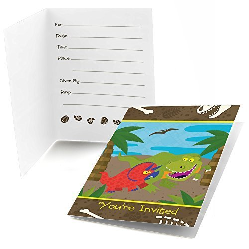 Dinosaur - Fill In Birthday Party Invitations (8 count)