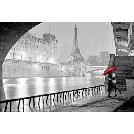 Paris - Eiffel Tower Kiss Poster - 36x24