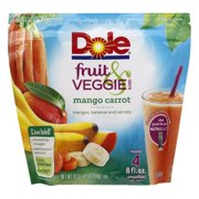 Dole Fruit & Veggie Blends Mango Carrot  Smoothies 16 oz. Stand-Up Bag