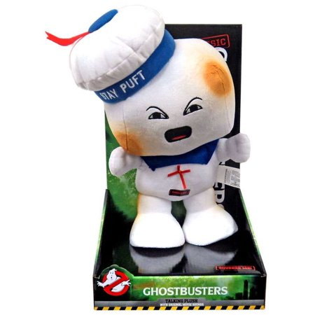 Ghostbusters Classic Stay Puft Marshmallow Man Talking Plush [Burnt, - Baby Marshmallow Man