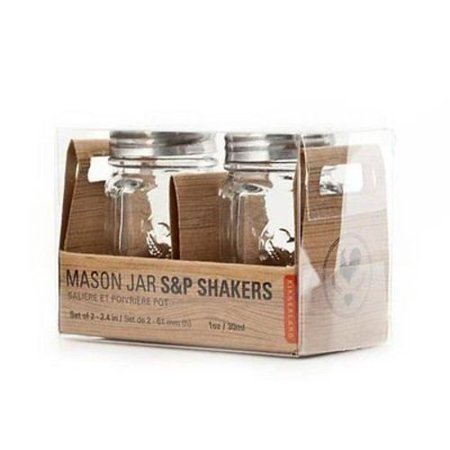 Kikkerland Mason Jar Salt & Pepper Shakers / Shaker Set (Fairmont Designs Shaker)