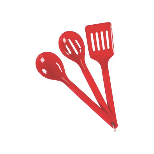 Coleman 3-Piece Nylon Serving Set, Red, Plastic