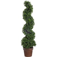 A&B Home Potted Spiral Boxwood Tree, 36""