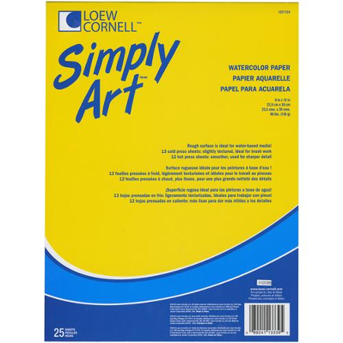 "Simply Art Watercolor Paper Pads 9""X12""-25 Sheets"