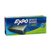 EXPO 81505 Block Eraser Dry Erase Whiteboard Board Eraser, Soft Pile, 5 1/8 W x 1 1/4 H - Pack of 1 , Black