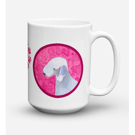 Bedlington Terrier Dishwasher Safe Microwavable Ceramic Coffee Mug 15 ounce SS4759