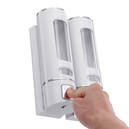 400ml*2 Bathroom Soap Dispenser Press Type Wall-mounted Soap Liquid Box - image 5 de 7