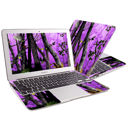 "Mightyskins Protective Skin Decal Cover for Apple MacBook Air 13"" (2010-2017 Model) with 13.3 inch screen wrap sticker skins Purple Tree Camo"