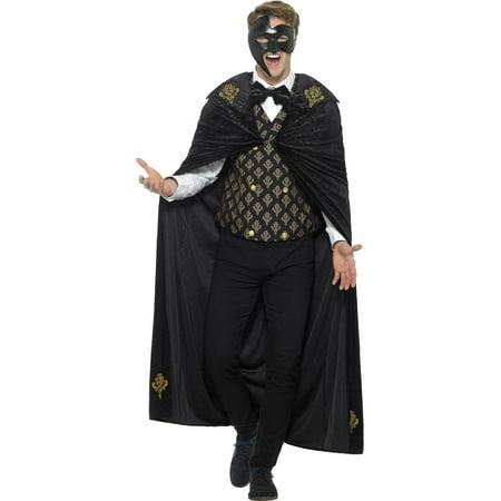 Deluxe Phantom Masquerade - Masquerade Costume Men