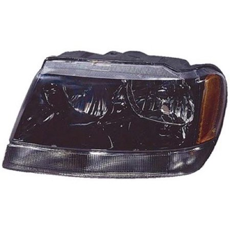 Go-Parts OE Replacement for 1999 - 2004 Jeep Grand Cherokee Front Headlight Assembly Housing / Lens / Cover - Left (Driver) Side - (Laredo + Sport) 5103401AA CH2502138 Replacement For Jeep Grand