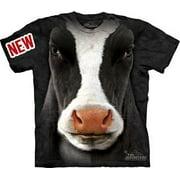 Black Cow Face Adult T-Shirt - 10-3347