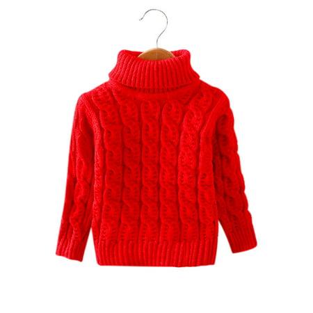 Knitted Wool Sweater (Baby Boy Girl Twist Flower Pattern Woolen Sweater Knitted Pullover Under Shirt)