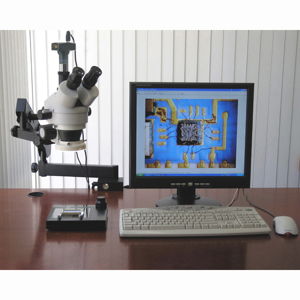 AmScope 3.5X-90X Simul-Focal Articulating Zoom Stereo Microscope with 5MP Digital Camera New by Overstock