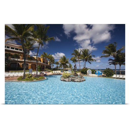 Great Big Canvas Walter Bibikow Poster Print Entitled Puerto Rico  North Coast  Dorado  Embassy Suites Resort Hotel