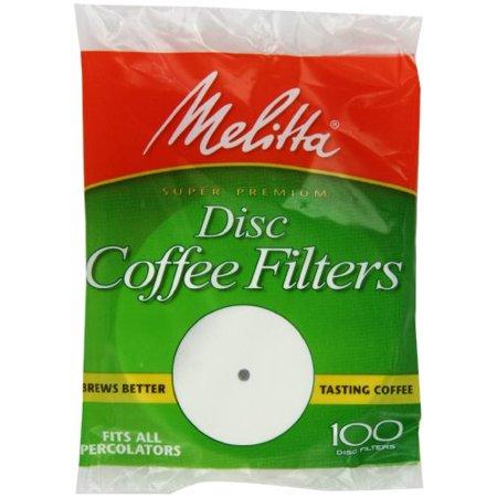 melitta coffee filters for percolators, white (3.5-inch discs), 100 ...