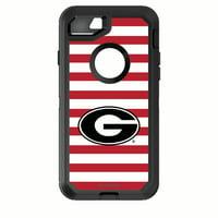 Georgia Bulldogs OtterBox iPhone 8/7 Striped Defender Case - No Size