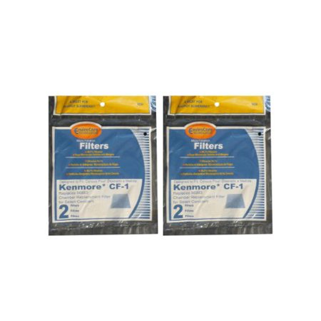(4) Kenmore Sears Progressive Foam Filter CF1, Progressive & Whispertone, Panasonic Vacuum Cleaners, 86883, 86880, 20-86883, 2086883, 8175084