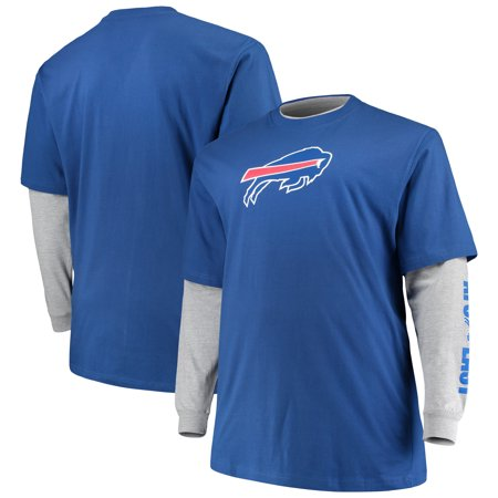 Buffalo Combo - Buffalo Bills Majestic Big & Tall T-Shirt Combo Set - Royal/Heathered Gray