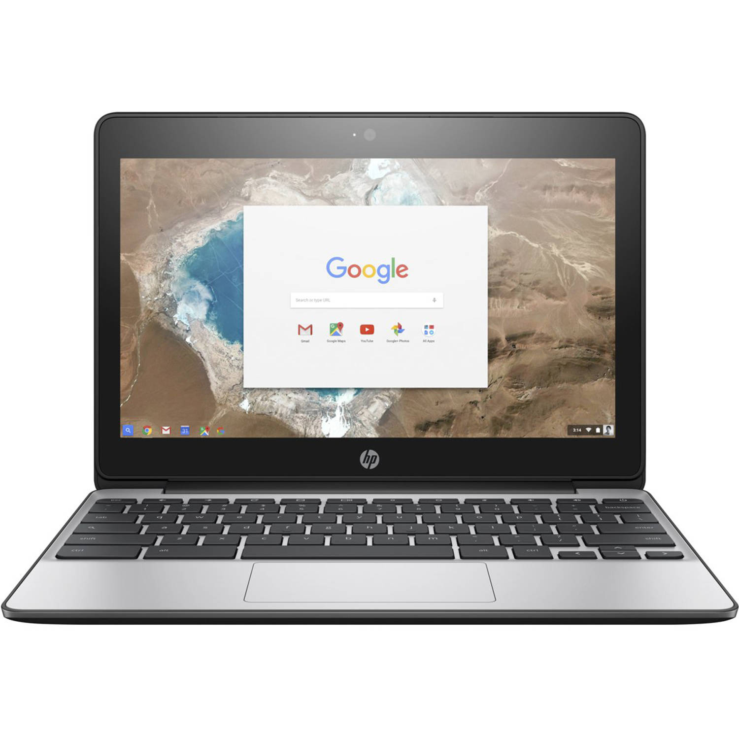 "Refurbished HP 11-v010wm 11.6"" Chromebook, Chrome, Intel Celeron N3060 Processor, 4GB RAM, 16GB eMMC Drive"