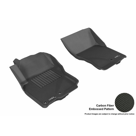 3D MAXpider 2005-2017 Nissan Frontier Crew/ King Cab Front Row All Weather Floor Liners in Black with Carbon Fiber Look
