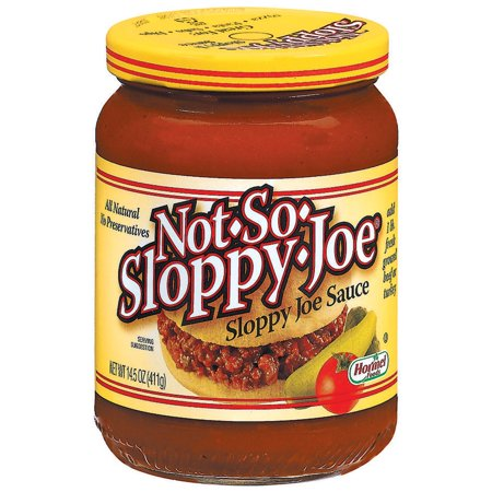 (3 Pack) HORMEL Not-So-Sloppy-Joe Sloppy Joe Sauce 14.5 OZ (Best Bolognese Sauce Jar)