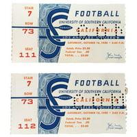 Sports Integrity 20094 USC Trojans vs California Golden Bears 10-14-1950 Football Game Tickets