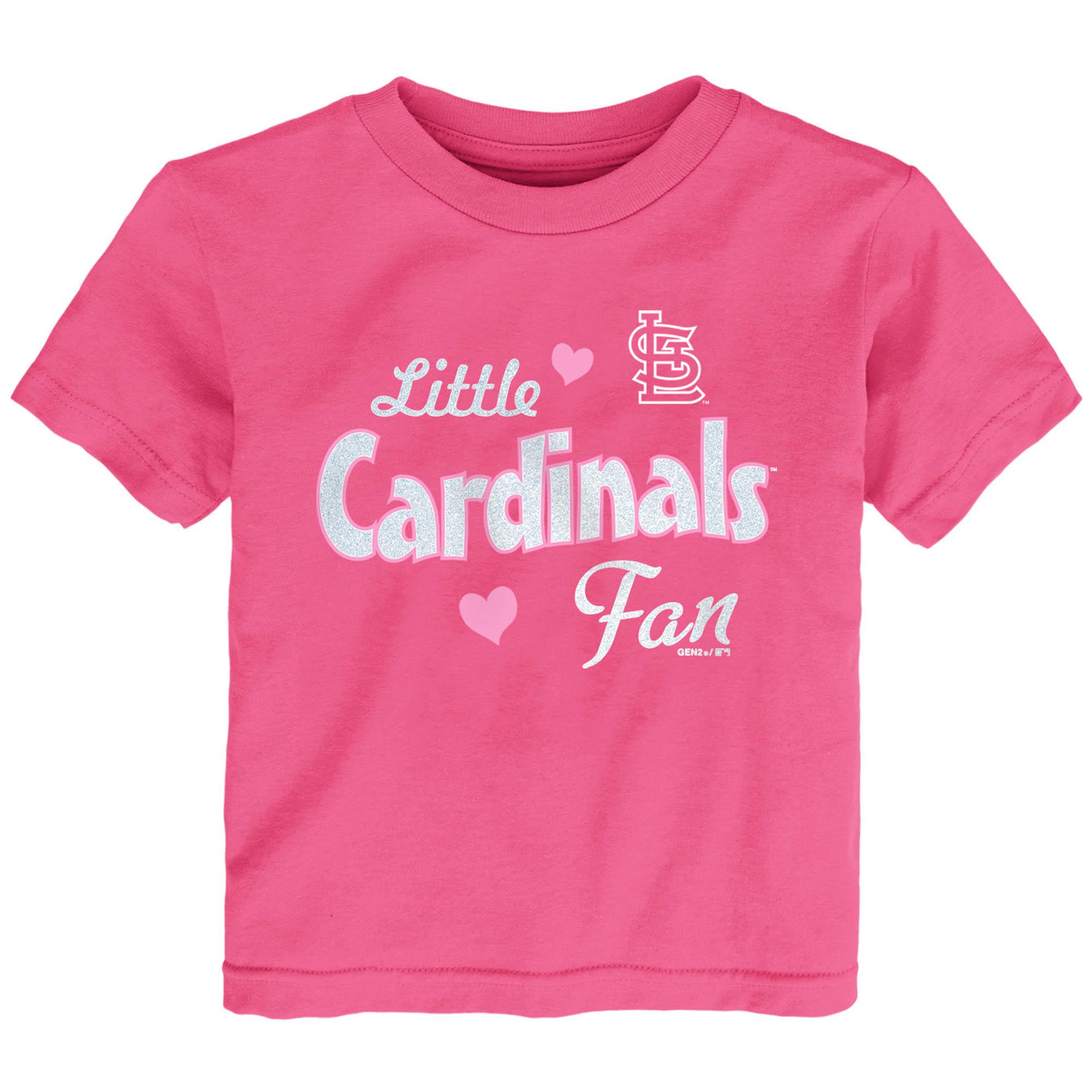 St. Louis Cardinals Girls Toddler Fan T-Shirt - Pink