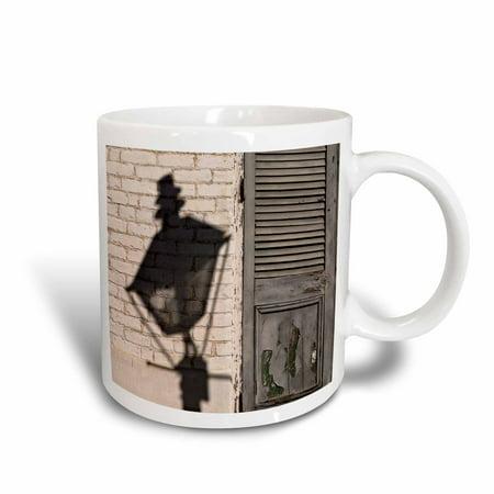 - 3dRose Louisiana, New Orleans, French Quarter street lamp - US19 BJA0007 - Jaynes Gallery, Ceramic Mug, 11-ounce