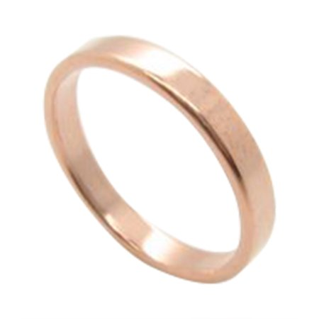 Solid Copper Band Ring CR42T -3mm wide - 1/8 of an inch wide.