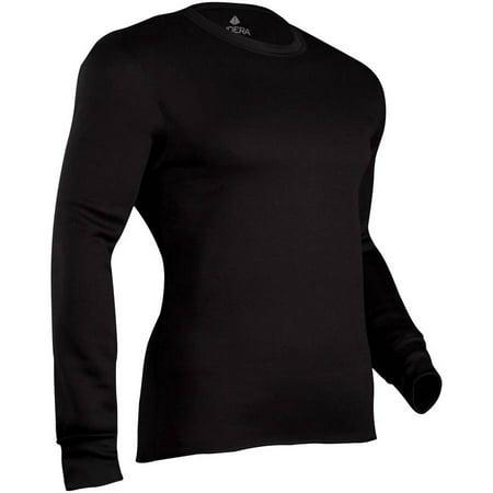 Men's Military Weight Fleeced Polyester Crew - Fleece Crew Shirt