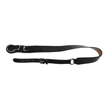 Lauren Ralph Lauren Womens Embossed Italian Leather Hip Belt (Large, Black)