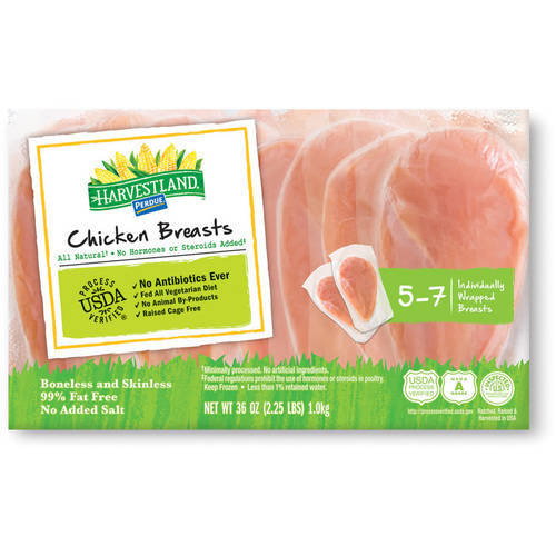 Harvestland Chicken Breast Individually Wrapped Frozen, 2.25 lbs.