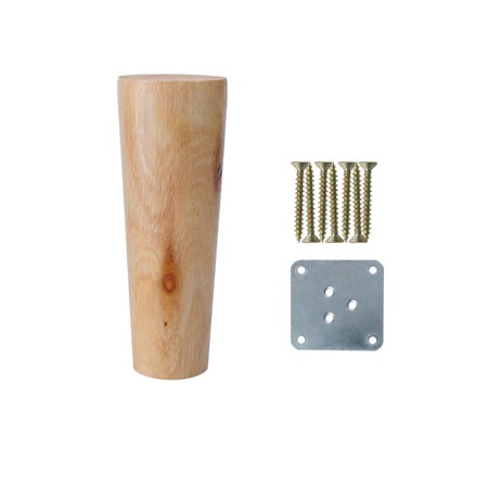 "5"" Wood Furniture Leg Chair Table Desk Closet Feet Round Leg Replacement"
