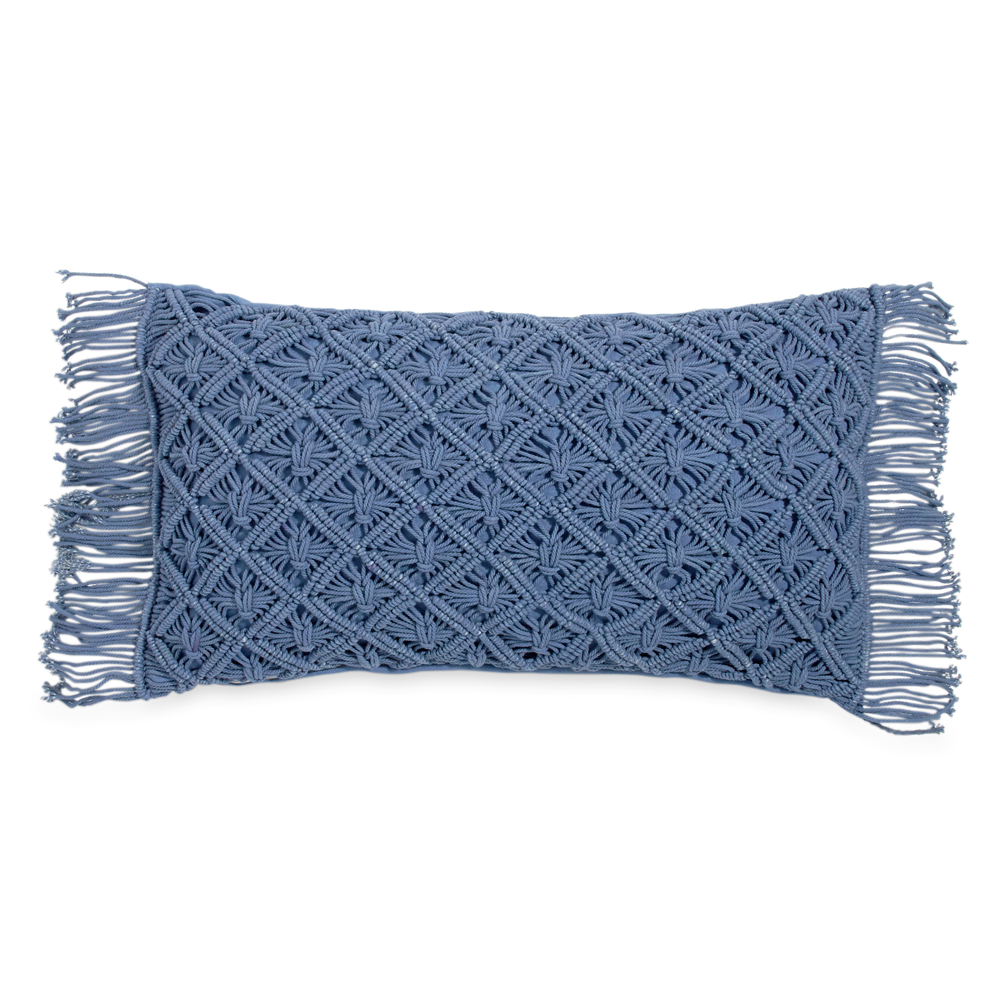 The Pioneer Woman Macrame Dec 12x20 Decorative Pillow by CHF Industries, Inc.