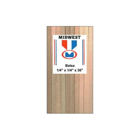 Balsa Strips - Midwest Balsa Strips 1/4 x 1/4 x 36